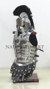 300 Movie Spartan Helmet Muscle Jacket Greek Roman Role Play Armor Collectibles