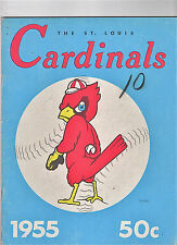 1955--ST. LOUIS CARDS (MUSIAL-RED-BOYER-MOON-HADDIX)--ORIGINAL YEARBOOK--XLNT