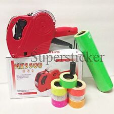 Mx 5500 Eos 8 Digits Price Tag Gun Labeler Labeller 5000 Green Labels 1 Ink