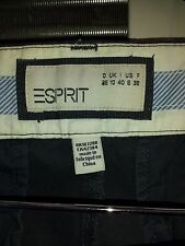 Esprit Women Shorts Capri Size US6 100% Cotton,Flat,Solid,Grey