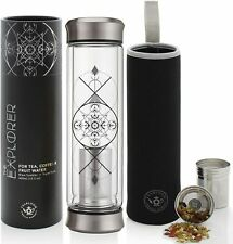 All-Beverage Tumbler 400 ml – Double Wall Insulated Glass Travel Flask Thermos
