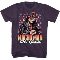 OFFICIAL Macho Man Randy Savage oh Yeah Retro 80's Men's T-shirt Wrestling S 2XL