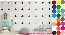 Set of Plus Signs Wall Decal Wall Stickers Nursery Decals Cross  PACK OF 25