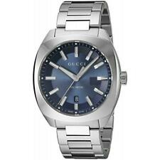 Gucci YA142303 GG2570 Large Men's Stainless Steel Blue Dial Watch
