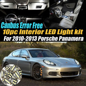 10Pc CANbus Error Free Interior LED White Light Kit for 2010-13 Porsche Panamera
