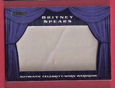 BRITNEY SPEARS AUTHENTIC WORN RELIC SWATCH MEMORABILIA WARDROBE CARD 2010 RAZOR