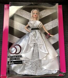 Barbie 60th Anniversary Signature Series Blond Doll 2019 Limited Edition NEW