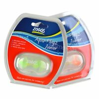 Zoggs Aqua Plugz Junior Swimming Ear Plugs Kids Childrens Age 6-14