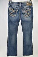 Silver Suki Surplus Jeans Women Bootcut Size 25x32 Flap Pocket Meas. 25x31