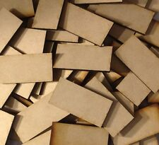 10x 50x100mm MDF Wood Bases Laser Cut Crafts Wargames Miniatures FAST SHIPPING