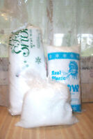 VINTAGE DEPARTMENT 56 FRESH FALLEN SNOW & REAL PLASTIC SNOW IN BAGS