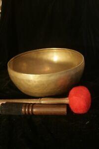 MANJUSRI SINGING BOWL 9.5 inch HAND BEATEN