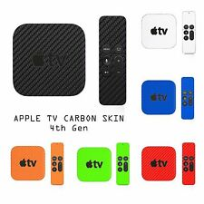 Apple TV 4 + Remote Controller 4th Gen Carbon Skin Wrap Cover Mac Decal Sticker