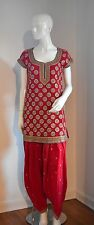Red and Gold Pakistani/Indian Desi Outfit