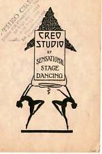 1925 Creo Studio Pamphlet Robert L Benney Artwork