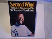 1979 BILL RUSSELL SECOND WIND HARDCOVER 1st Ed.w/DJ,taylor branch,boston celtics