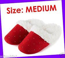 Bath & Body Works Sparkle Shine Red Slippers MEDIUM 5 5.5 6 6.5 7 Rhinestone