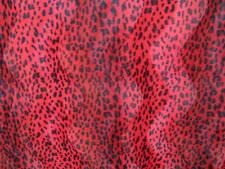 Fellimitat Leopard Fellstoff Leopardenstoff rot schwarz Kunstfell Fellimitat