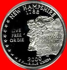 2000 S 90% Silver New Hampshire State Quarter Deep Cameo Gem Proof No Reserve