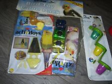 4 bird toys for parakeets or similar sized birds-all new