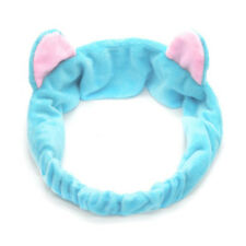 Cute Cat Ear Make Up Face Washing Shower Mask Snood Hairband Cosmetic Headband