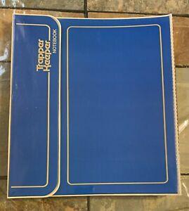 80s Blue Yellow Mead Trapper Keeper 3 Ring Binder + 3 Portfolio Folders 29096