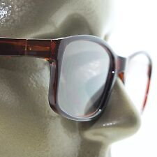 Reading Glasses Square Eyes Readers Bold Coffee Brown Frame +2.50 Lens