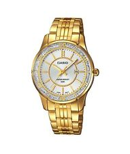 Casio Watch * LTP1358G-7AV Crystal Date Classic Gold Steel for Women COD PayPal
