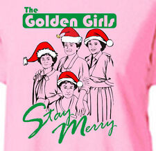 THE GOLDEN GIRLS STAY MERRY  - Womens T-Shirt -holiday christmas betty white bea