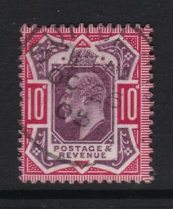 SG254, 1902 10d dull purple & carmine, superb used.