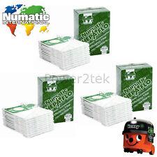 10 freschi Panno Filtro Riutilizzabile Zip Borsa Per Numatic Henry HVR200a Aspirapolvere HVR200