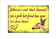 German Shepherd Dog Sign I Love my Dog Sign Cute Dog Sign