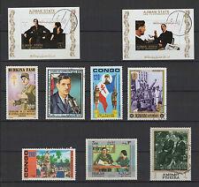 CHARLES DE GAULLE  9 timbres anciens oblitérés /B255