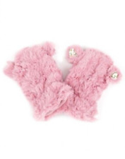 MONSOON MITTENS/GLOVES BN RRP £8, AGE 0 -12MTHS, PINK FAUX FUR MITTENS
