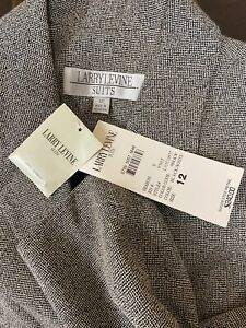 NEW Vintage Larry Levine NY Women's Gray Blazer Jacket NWT $240 Buttons Incl