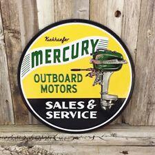 Mercury Outboard Motors Sales Boat Metal Tin Sign Vintage Garage Man Cave New