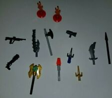 Lego Weapons Lot Guns, Swords, Knives, Flame