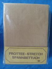 FROTTEE SPANN-BETTTUCH 1B beige 150cm x 200cm in OVP - neu