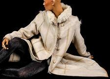 L Vintage Lammfellmantel Lammfell Lamm Pelzmantel Sheepskin fur lamb shearling