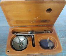Antique Portable Field Scale JEWELLARY TOOL Gold Gem Stone original wooden box