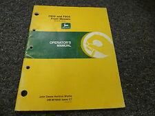 John Deere F915 & F935 Front Mower Owner Operator Manual S/N 475001-Up Omm75848