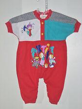 TUTTI FRUTTI Size 11-14 Months Girls Red Short Sleeve Bodysuit Romper