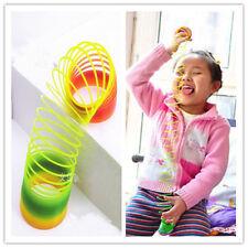 Colorful Rainbow Plastic Magic Slinky Glow-in-the-dark Children Classic Toy