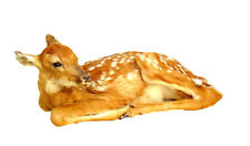 Laying Fawn Professional Taxidermy Mounted Animal Statue Gift