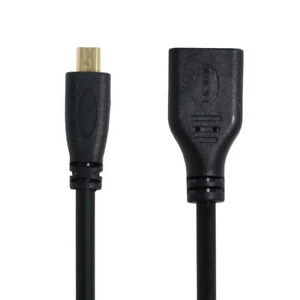 D Type Micro HDMI 1.4 Male to Mini HDMI 1.4 Female C Type Extension Cable for PC