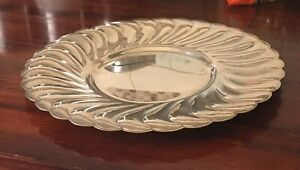 Vintage WM Rogers Silver Waverly  Serving Tray Plate 3821