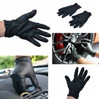 100pcs/set S/M/L/XL Disposable Mechanic Nitrile Gloves Tattoo Latex Powder Black