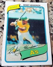 RICKEY HENDERSON 2010 Topps SP REPRINT 1980 Rookie Card RC HOF Oakland A's