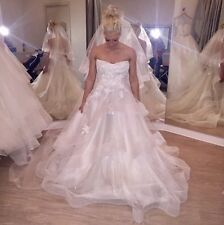 BRAND NEW WITH TAGS SILK WHITE Monique Lhuillier Wedding Gown BL1518 Size 2