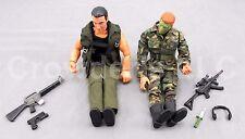 2 Mixed 12 In Military Poseable Action Figures Gi Joe MAC Power Team Hasbro Army